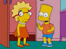 Milhouse fantasiado lisa bart