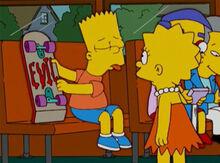 Bart skate evil lisa onibus