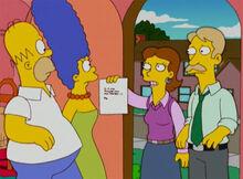 Homer marge pais de darcy bilhete