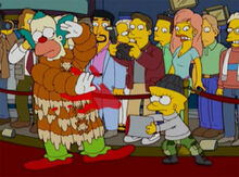 Krusty casaco pele lisa protesto