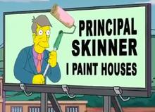 Principal Skinner I Paint Houses