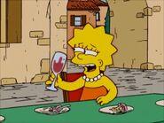 Wine drunken Lisa