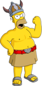 Barbarian Homer Tapped Out