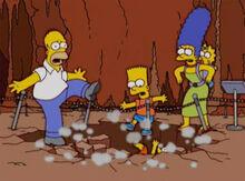 Simpsons caindo buraco caverna