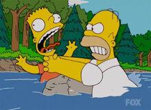 Homer esgana bart correnteza