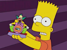 Bart despertador krusty defeito