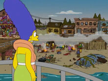 Marge barnacle bay destruida