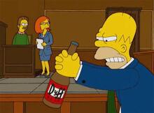 Homer duff julgamento lisa