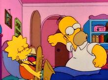 Homer ouvindo lisa tocar
