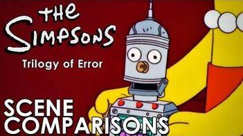The Simpsons Trilogy of Error - scene comparisons