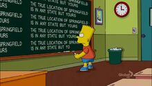 Beware My Cheating Bart Chalkboard Gag