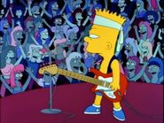 Bart as a punk rocker