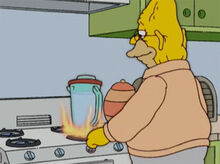 Vovo fogo copo liquidificador