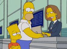 Bart homer cia aerea não