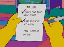 Lista coisas fazer verão homer