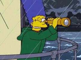 Marge procurando homer luneta farol