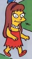 Allison dressed as Lisa