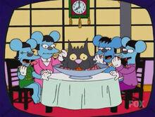 Comichão coçadinha gato sushi ratos