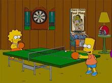 Lisa bart pingpong porão