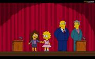 Holding Lisa's hand