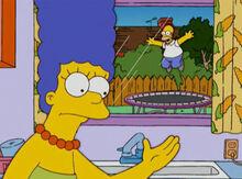 Marge homer cama elastica quintal