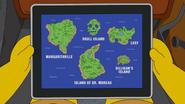 Islands map Treehouse of Horror XXIX