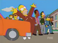 Marge hits Homer