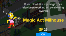 Tapped Out Magic Act Milhouse Unlock