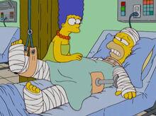 Homer quebrado hospital marge