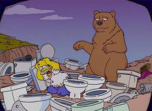 Homer ataque urso tv vasos