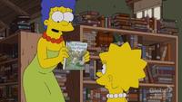 Marge pokazuje Lisie ulubioną książkę