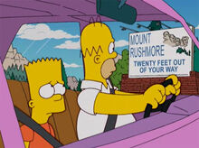 Homer bart placa rushmore