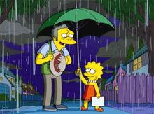 Lisa moe guarda chuva noite