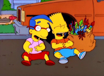 Bart and Milhouse Laughing