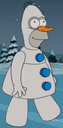 Homer as Olaf