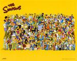 Simpsons cast poster