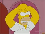 Homer Strangles his brain