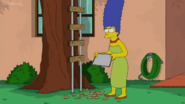Marge drop the cookies on the ground
