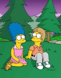 Marge e Homer giovani
