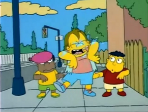 Nelson Soaked by Water Balloons (Bart the General)