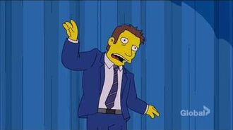 The Simpsons - Kent Brockman Sings the Talking Heads Song 'Once in a Lifetime'