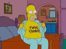 Homer não esquecer