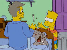 Bart lixo cama skinner comer