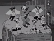 Krusty and his show monkeys