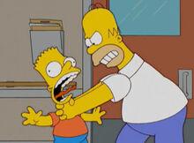 Homer estrangula bart 17x20