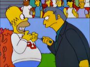 Fat Tony threatens Homer ice pick