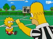 Homer cartão amarelo lisa