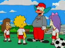 Krusty treinador futebol meninas