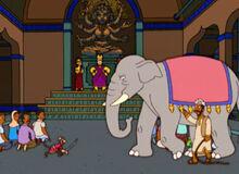 Macaco vs elefante deus homer