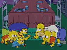 Simpsons jantando igual carangueijo
